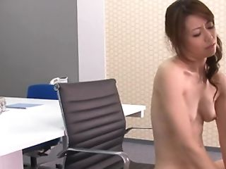 A Hot Thing With Stockings Is Getting Penetrated In The Office