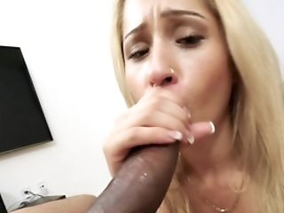 Blonde Lifts Up Her Top And Then She Has Interracial Orgy In The Point Of View Vid