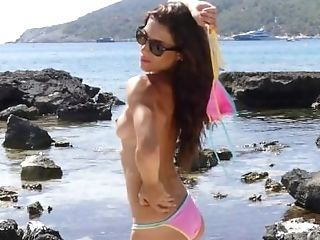 Realbikinigirls - Wendy M Pink And Blue Swimsuit