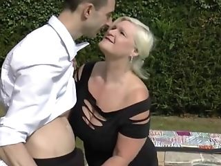Granny Lacey Fucks The Pool-boy