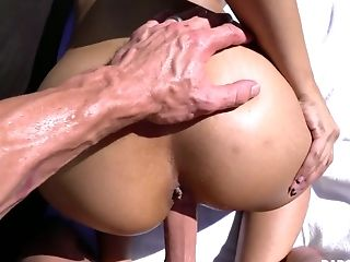 Stunning Honey With Appetizing Bubble Rump Gets Arched Over And Fucked From Behind Decently