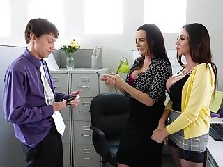 Hot Assistant Ariella Ferrera Loves A Threesome With Her Manager