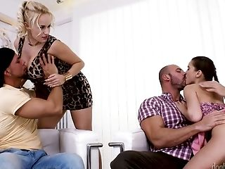 Muscular Dudes Exchange Wild Gfs For Hard-core Four Way Intercourse