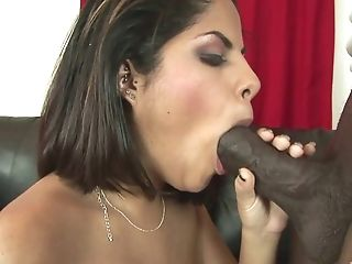 Supah Hot Beauty Fellating And Sucking A Big Black Fuckpole In This Point Of View Flick