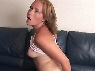 Pretty Lady Masturbates On The Couch