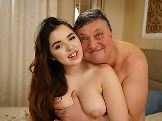 Huge-titted Nubile For Grandfather