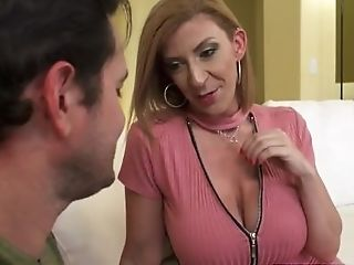 Red-haired Step Mom Sara Jay In Stockings Wants  Youthful Pipe