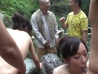 Fucking Antsy Fucksluts At A Hot Spring In The Mountains