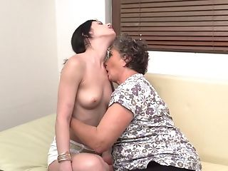 Matures Lesbos Anika C. And Jana W. Pound Each Others Twats