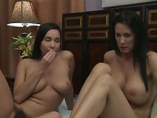 Lusty Big Titted Housewife Reagan Foxx Lures Lovely Dark-haired For Lezzy Intercourse