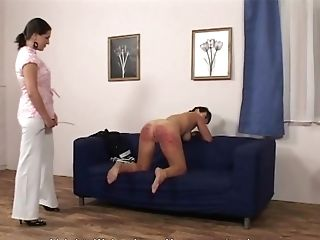 Brown-haired Beauty Likes To Yell While A Non-traditional Mistress Penalizes Her