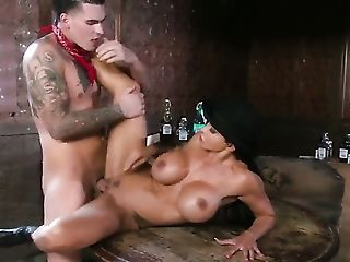 Clover Touches The Greatest Parts Of Amazing Jewels Jades Bod Before He Drills Her Twat