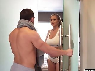 A Very Hot Scene In Which Julia Ann And Her Paramour Have Hookup In The Bathroom