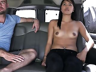 Brown-haired Asian With Tasty Caboose Perceives Intense Sexual While Jerking Dude Off