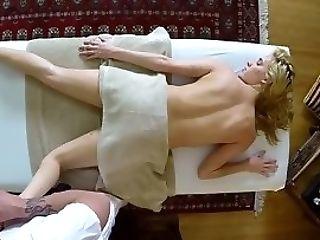 Massaged Nubile Gets Jizm
