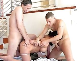 Exhilarated Female Attempts Bang-out With Two Dudes And She Fucking Porks It